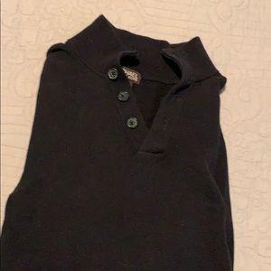 Black 4 button neck sweater